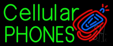 Cellular Phone Logo 2 LED Neon Sign