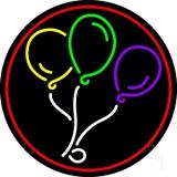 Circle Balloon Logo LED Neon Sign