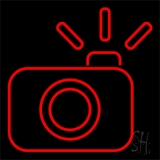Compact Camera LED Neon Sign