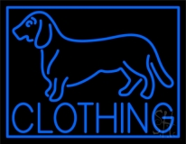Blue Dog Clothing with Border LED Neon Sign