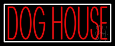 Dog House Block 2 LED Neon Sign