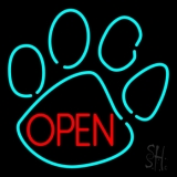 Dog Open Logo 4 LED Neon Sign