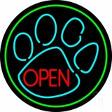 Dog Open Logo 5 LED Neon Sign