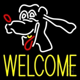 Dog Welcome 2 LED Neon Sign