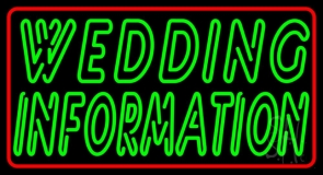 Double Stroke Wedding Information LED Neon Sign
