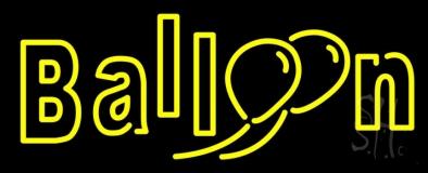 Double Stroke Yellow Balloon LED Neon Sign