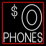Free Phones 1 LED Neon Sign