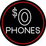 Free Phones 2 LED Neon Sign