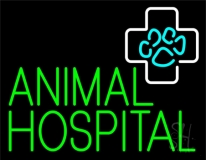 Green Animal Hospital Block LED Neon Sign