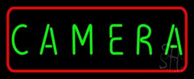 Green Camera Block LED Neon Sign