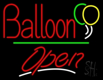 Open Balloon Green Line LED Neon Sign