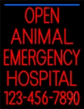 Open Emergency Animal Hospital 2 LED Neon Sign