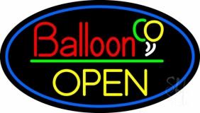Oval Block Open Balloon LED Neon Sign