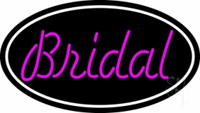 Oval Bridal Cursive Neon Sign