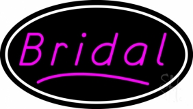 Oval Bridal In Pink LED Neon Sign