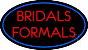 Oval Bridals Formals LED Neon Sign