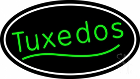 Oval Green Tuxedos LED Neon Sign