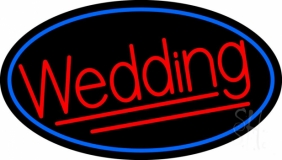 Oval Red Wedding LED Neon Sign
