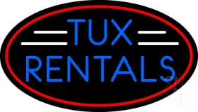 Oval Tux Rental LED Neon Sign