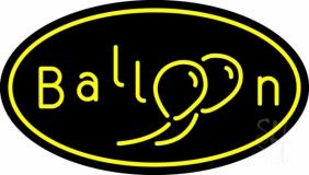 Oval Yellow Balloon LED Neon Sign