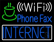 Phone Fax Internet 1 LED Neon Sign