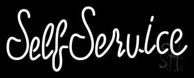 Pink Self Service Cursive 2 LED Neon Sign