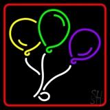 Red Border Balloon Logo LED Neon Sign