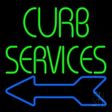 Red Curb Service 1 LED Neon Sign