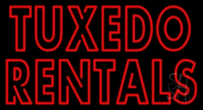 Red Tuxedo Rentals LED Neon Sign