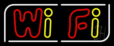 Red Wifi Block 3 LED Neon Sign