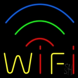 Red Wifi Block 5 LED Neon Sign
