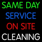 Same Day Service On Site Cleaning Block LED Neon Sign