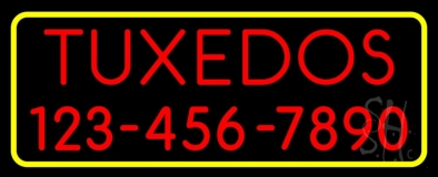 Tuxedos With Phone Number LED Neon Sign