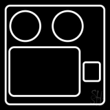 Video Camera Logo 2 LED Neon Sign