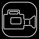 Video Camera White Border LED Neon Sign