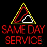 Red Same Day Service LED Neon Sign