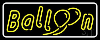 White Border Yellow Balloon LED Neon Sign