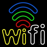 Wifi Free Block With Phone Number 2 LED Neon Sign