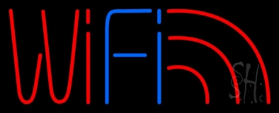 Wifi Red Logo LED Neon Sign