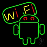 Wifi With Black Border 2 LED Neon Sign