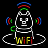Wifi With Dog Logo LED Neon Sign