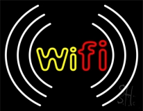 Wifi With Icon Neon Sign
