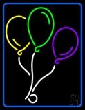With Border Balloon Logo LED Neon Sign