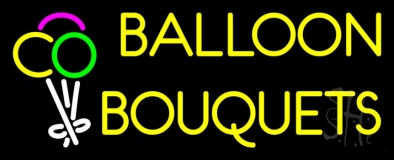 Yellow Balloon Bouquets LED Neon Sign