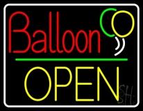 Yellow Block Open Balloon LED Neon Sign