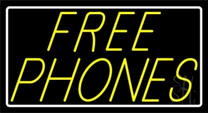 Yellow Free Phone LED Neon Sign