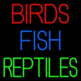 Birds Fish Reptiles 1 LED Neon Sign
