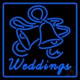 Blue Border Weddings Bell LED Neon Sign