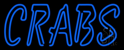 Blue Crabs LED Neon Sign