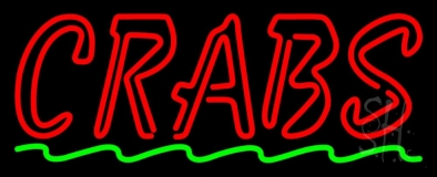 Double Stroke Red Crab LED Neon Sign